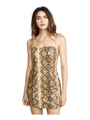LIKELY gold python hayley dress
