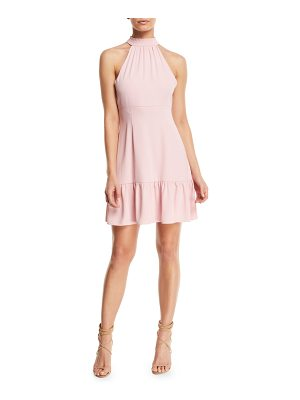 LIKELY Rory Mock-Neck Sleeveless Mini Dress