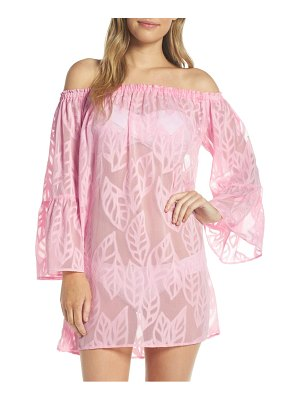 Lilly Pulitzer lilly pullitzer nevie off the shoulder cover-up dress