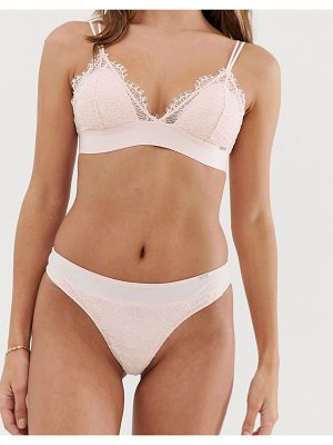 Lindex ella m nora eyelash lace thong in pale pink