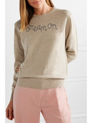 Lingua Franca dream on embroidered cashmere sweater