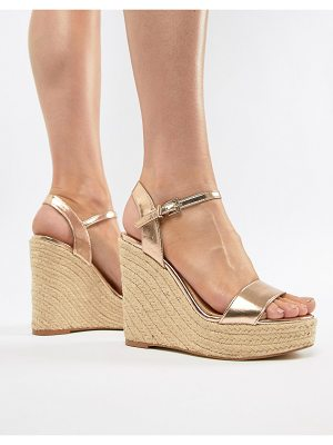 Lipsy metallic espadrille heeled wedge