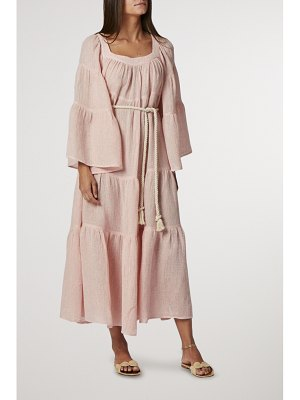 Lisa Marie Fernandez belted tiered linen-blend gauze maxi dress