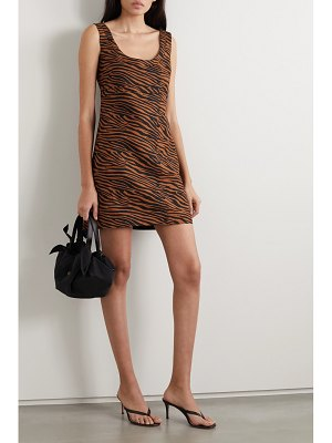 Lisa Marie Fernandez net sustain zani zebra-print linen mini dress