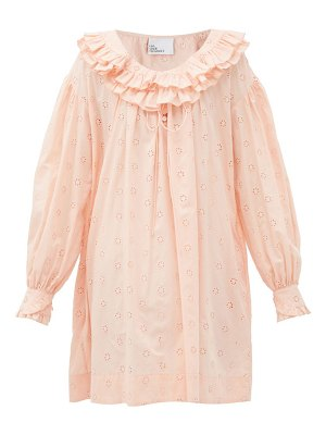 Lisa Marie Fernandez poet ruffled broderie-anglaise cotton dress