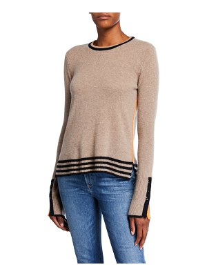 Lisa Todd Up Your Sleeve Crewneck Cashmere Sweater w/ Sleeve Detail