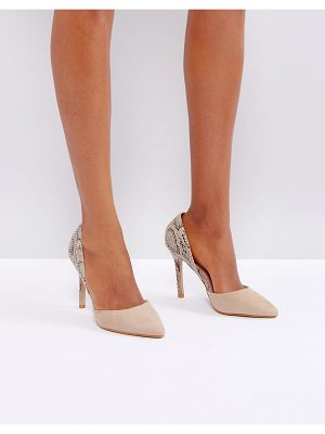 LITTLE MISTRESS Contrast Snake Point High Heels