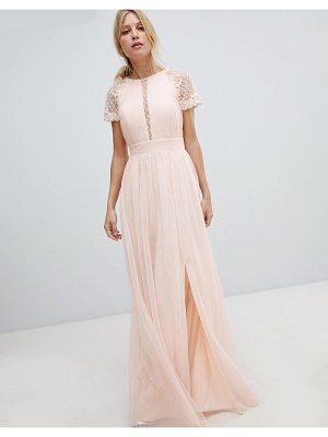Little Mistress embellished bodice maxi dress-pink
