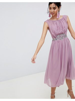 Little Mistress jewel trim maxi dress