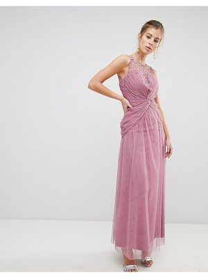 Little Mistress Knot Waist Maxi Dress