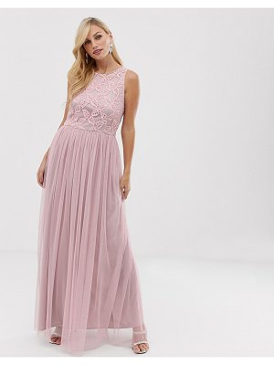 Little Mistress pleat skirt maxi dress
