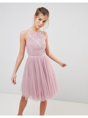 Little Mistress tulle skirt skater dress