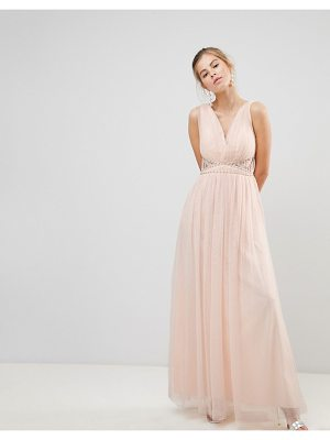 Little Mistress v-neck maxi dress