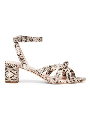 Loeffler Randall anny knotted snakeskin-embossed leather sandals