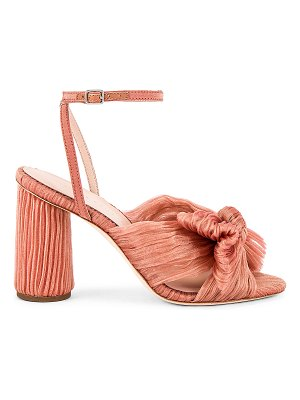 Loeffler Randall camellia knot mule with ankle strap