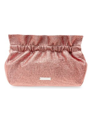 Loeffler Randall carrie ruffle frame leather clutch