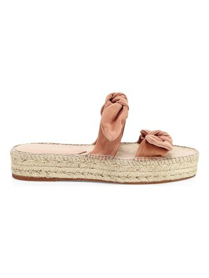 Loeffler Randall daisy bow suede espadrille slides