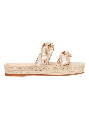 Loeffler Randall daisy two bow leather espadrille platform sandals
