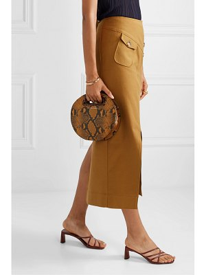 Loeffler Randall indy snake-effect leather tote
