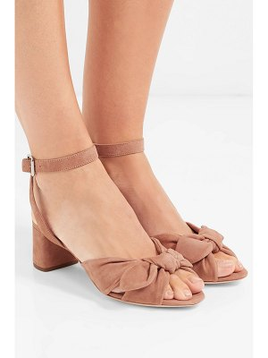 Loeffler Randall jill bow-detailed suede sandals