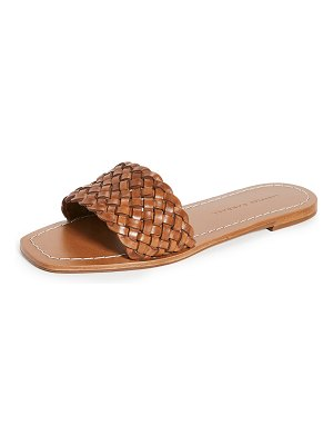 Loeffler Randall joey woven square toe slide sandals