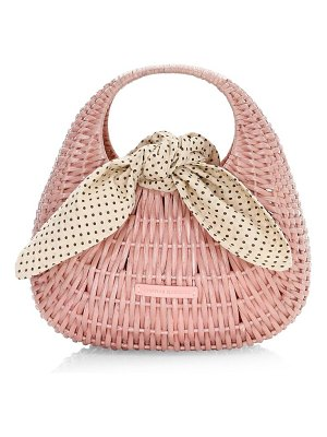 Loeffler Randall lorna wicker tote bag