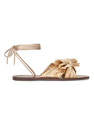 Loeffler Randall peony pleated knot ankle-strap sandals