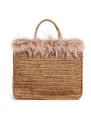 Loeffler Randall raffia travel tote bag
