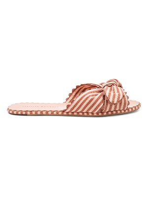 Loeffler Randall Shirley Knotted Ric Rac Slide With Scalloped Edge