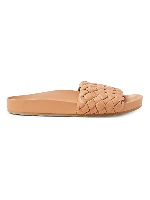 Loeffler Randall sonnie woven leather slides