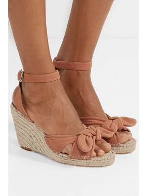 Loeffler Randall tessa knotted suede espadrille wedge sandals