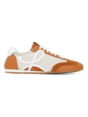 Loewe 10mm cotton & leather sneakers