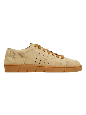 Loewe 20mm perforated suede sneakers