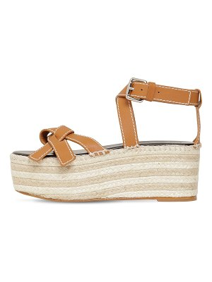 Loewe 70mm gate leather platform wedges