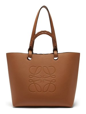 Loewe anagram-debossed leather tote bag