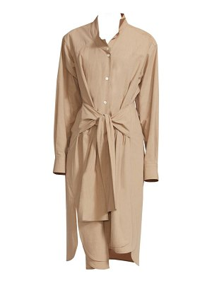 Loewe asymmetric cotton shirtdress
