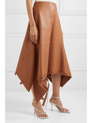 Loewe asymmetric leather midi skirt