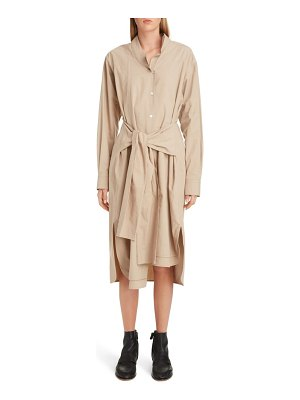 Loewe asymmetrical cotton poplin shirtdress