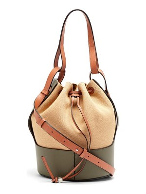 Loewe balloon medium canvas and leather shoulder bag