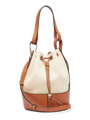 Loewe balloon medium leather and canvas shoulder bag