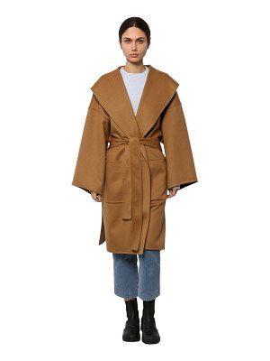 Loewe Belted wool & cashmere cloth coat