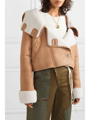 Loewe cropped shearling hooded jacket