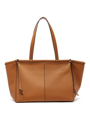 Loewe cushion large grained-leather tote bag