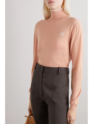 Loewe embroidered cashmere and cotton-blend turtleneck sweater