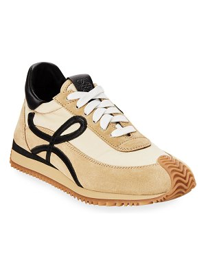 Loewe Flow Mixed Leather Runner Sneakers