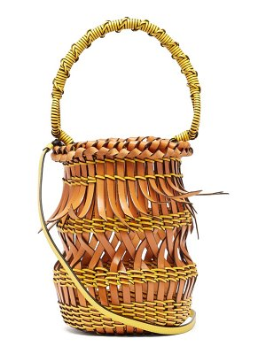 Loewe fringes open-work leather bucket bag