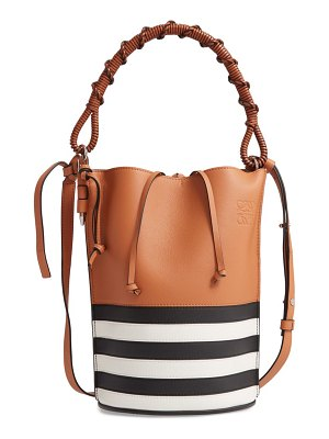 Loewe gate marine calfskin leather bucket bag