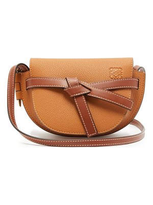 Loewe gate mini grained leather cross-body bag