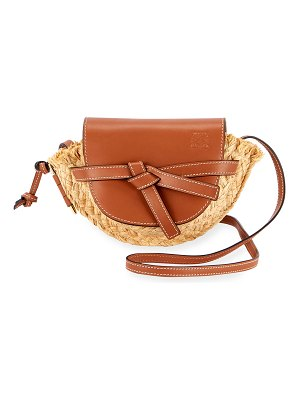 Loewe Gate Mini Raffia Shoulder Bag