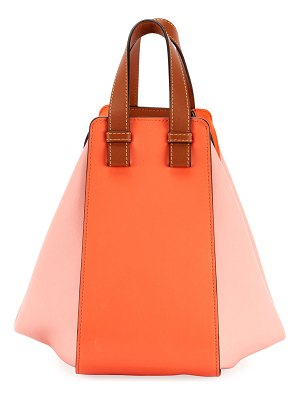 Loewe Hammock Small Colorblock Leather Shoulder Bag